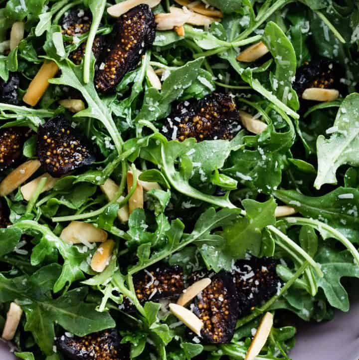 Five-Minute Arugula Fig Salad with Almonds