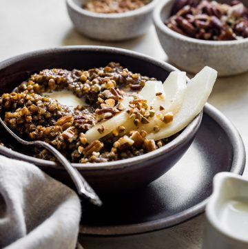 Gingerbread Spice Instant Pot Buckwheat Porridge
