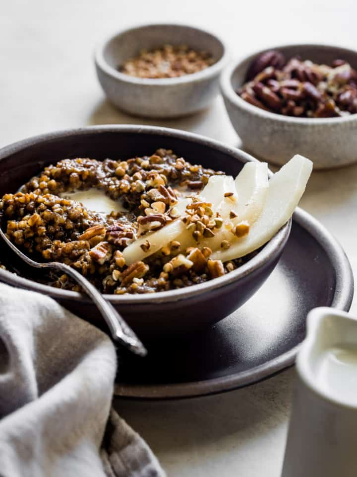 Gingerbread Spice Instant Pot Buckwheat Porridge
