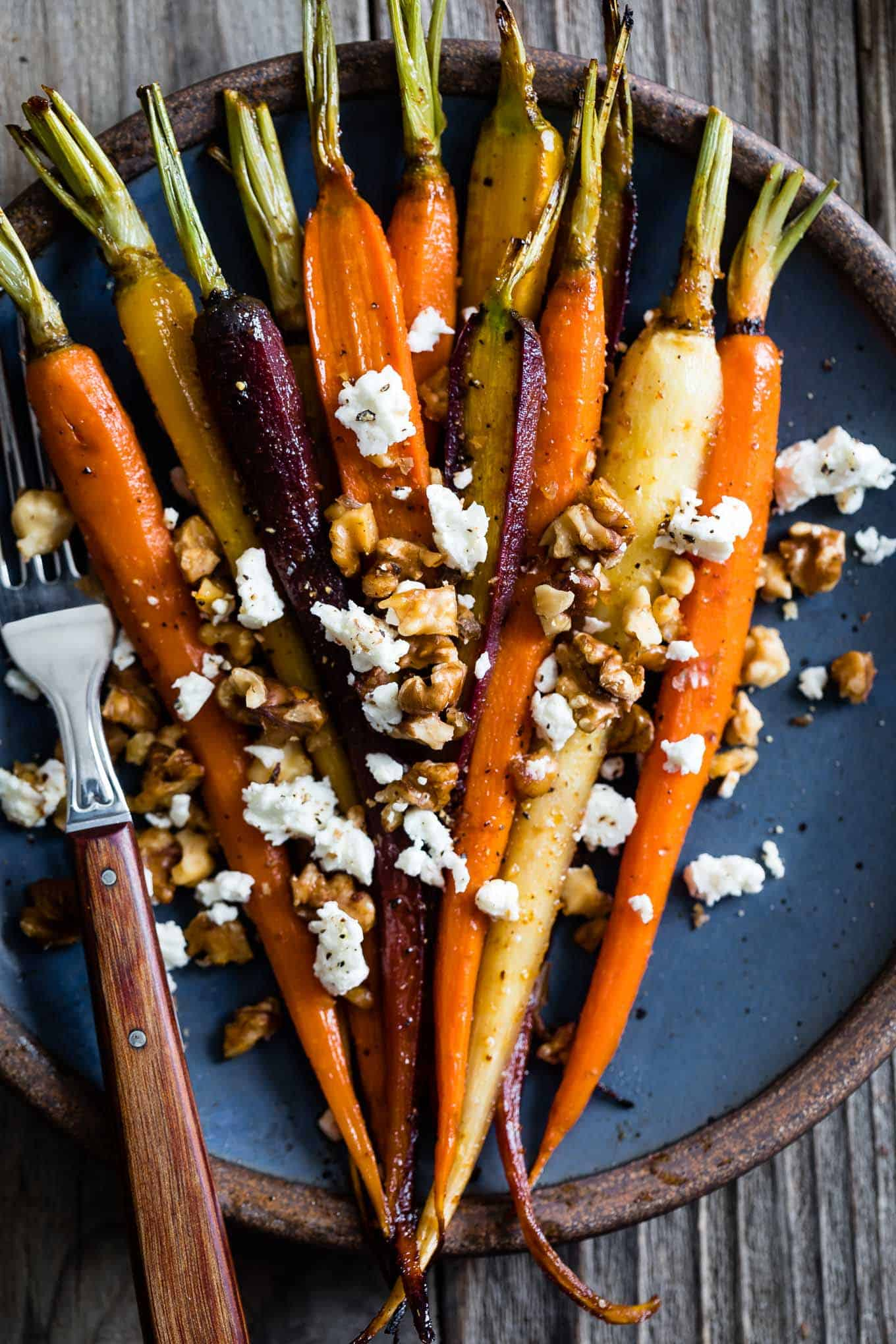 Maple Roasted Rainbow Carrots