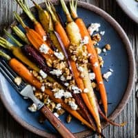 Maple Roasted Carrots with Walnuts & Feta
