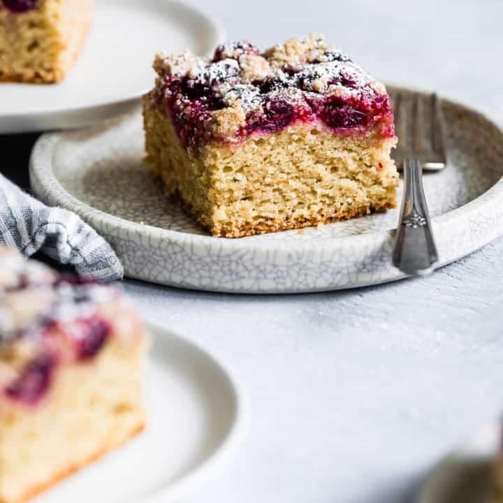 Cardamom Cranberry Gluten-Free Coffee Cake
