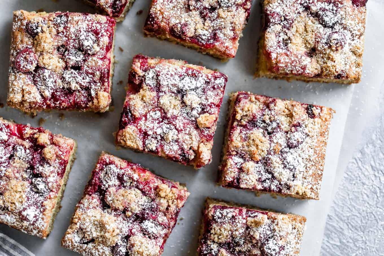 Cardamom Cranberry Gluten-Free Crumb Cake