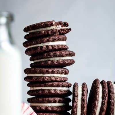 Homemade Gluten-Free Oreos with Vanilla or Peppermint Buttercream