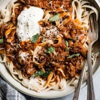 Weeknight Instant Pot Beef Ragu