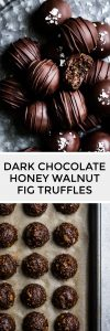 Dark Chocolate Honey Walnut Fig Truffles