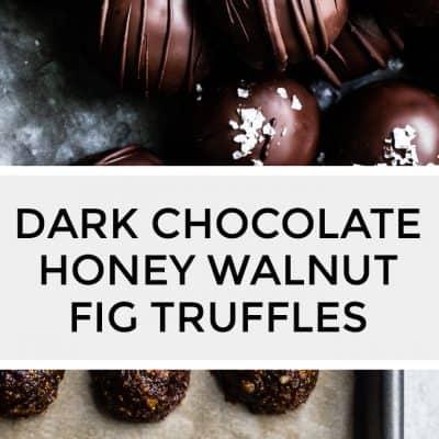 Dark Chocolate Honey Walnut Fig Truffles