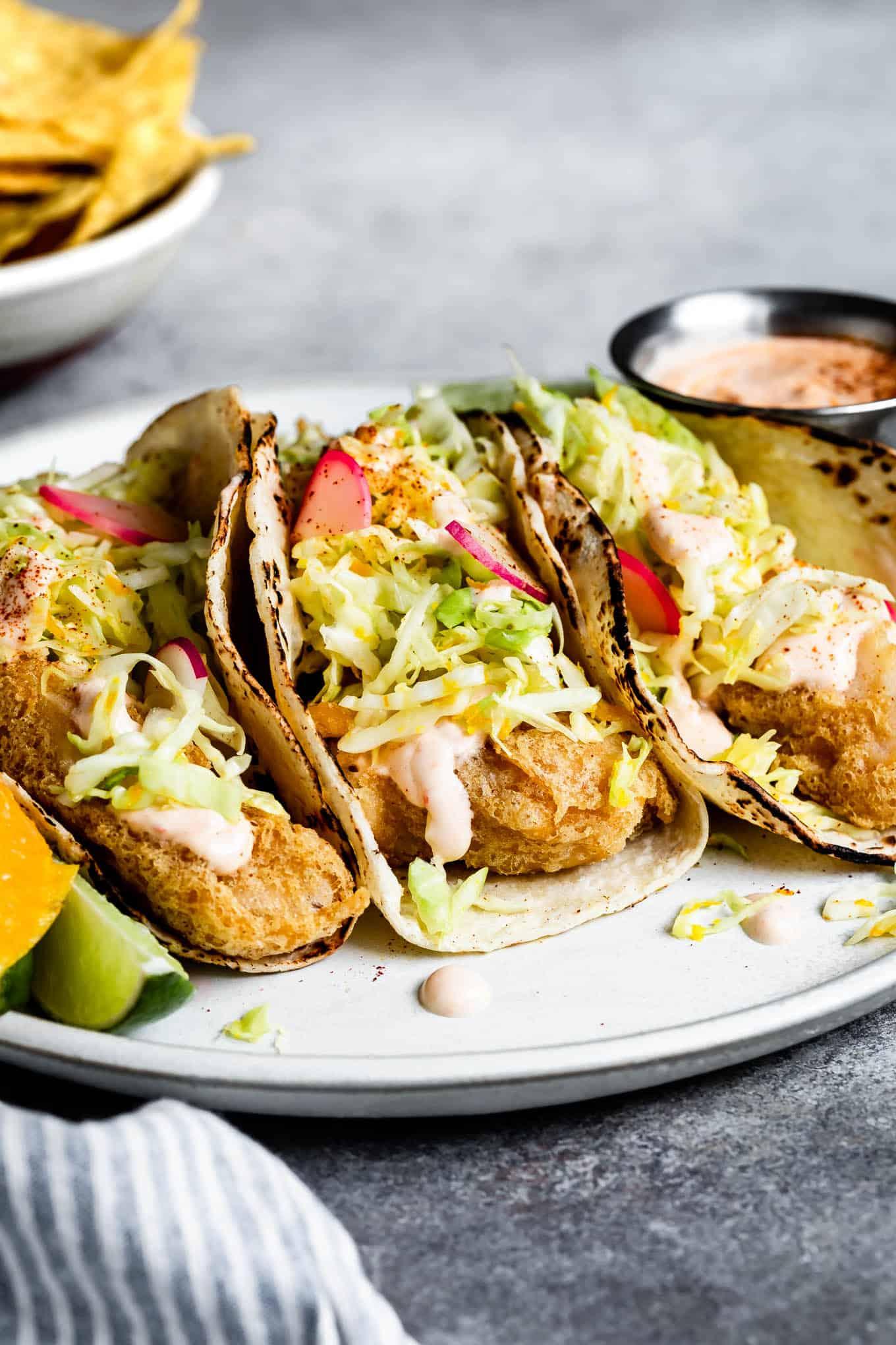 Gluten-Free Baja Fish Tacos