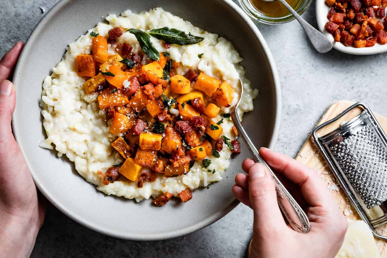 Creamy Risotto Recipe with Roasted Butternut Squash