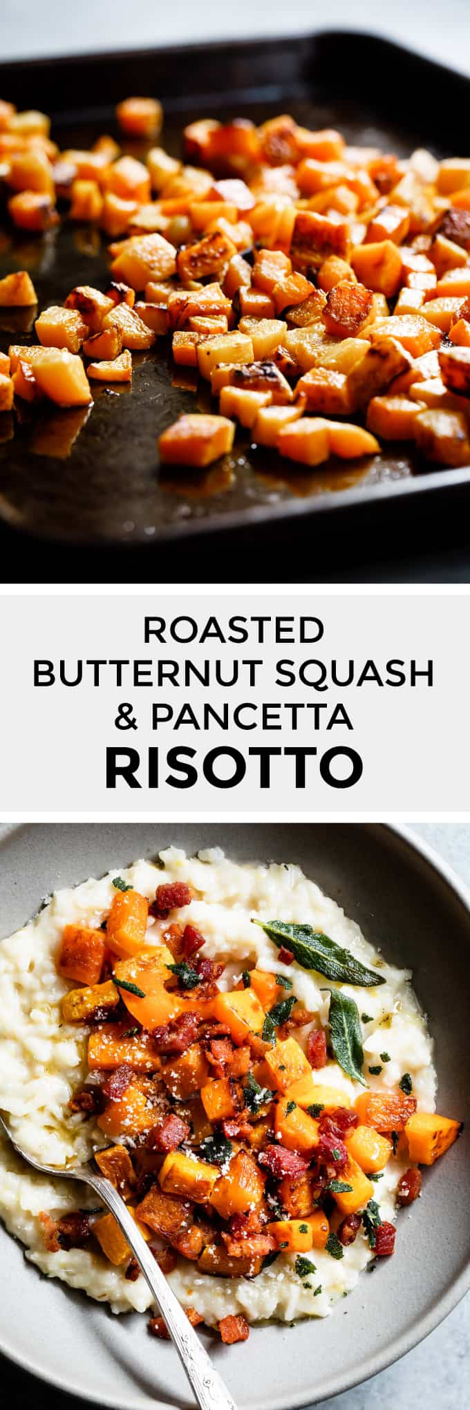 Roasted Butternut & Pancetta Risotto with Sage Oil