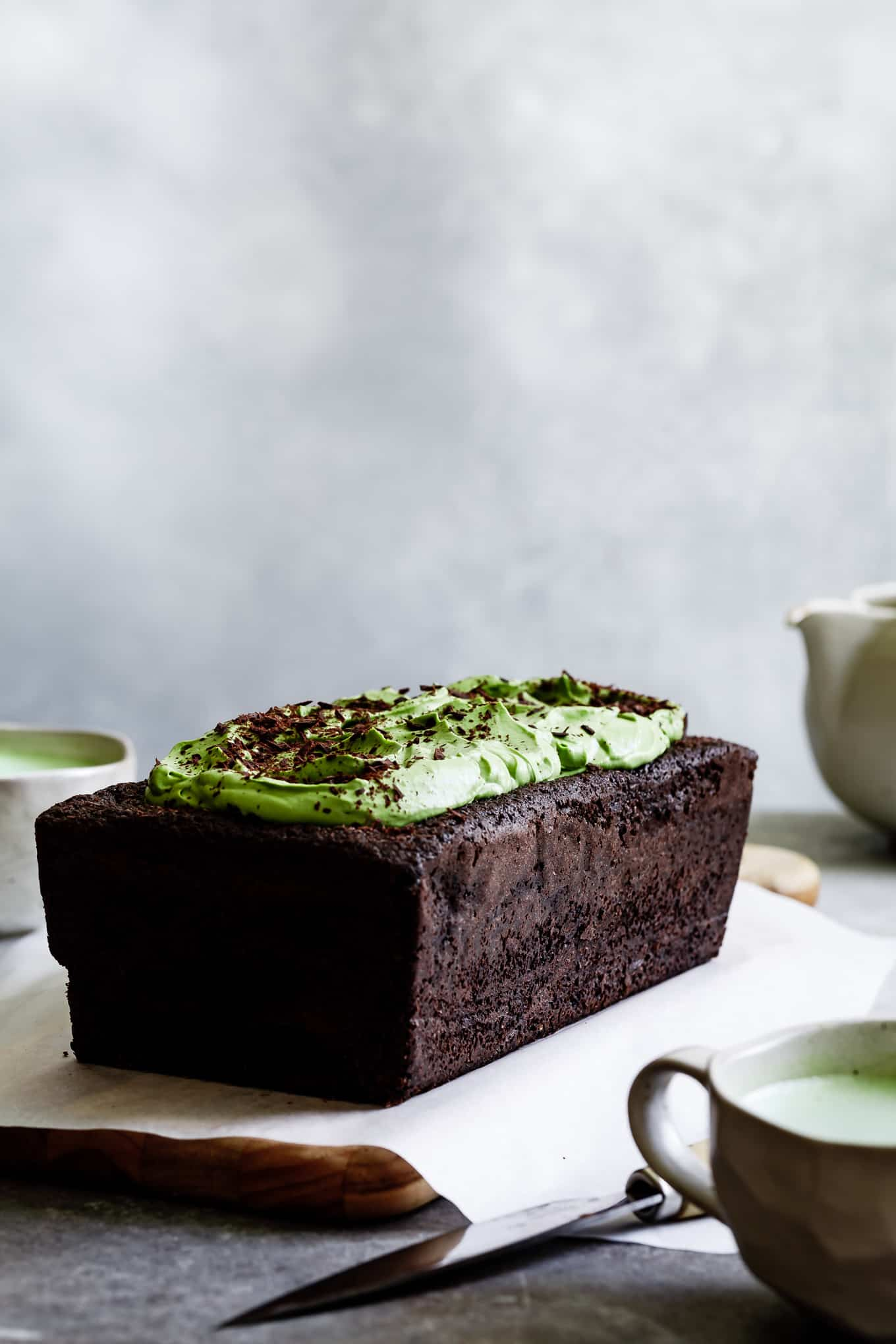 Matcha Black Sesame Chocolate Loaf Cake