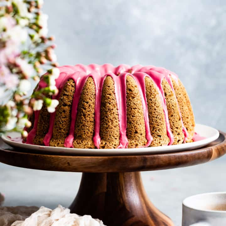 Earl Grey Gluten-Free Bundt Cake with Blood Orange Icing