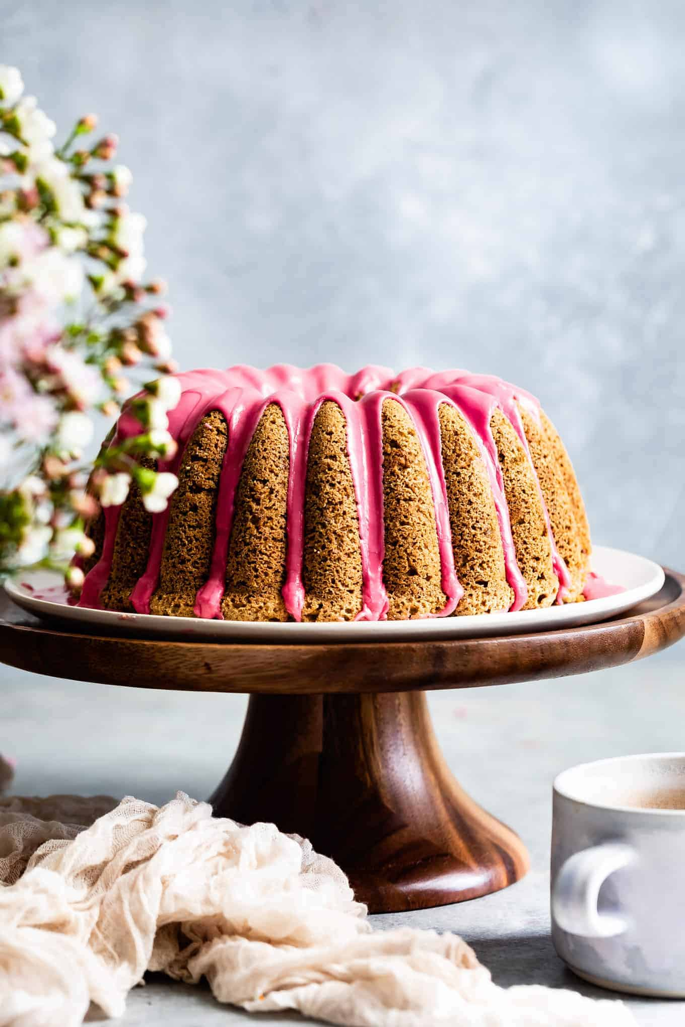 Earl Grey Gluten-Free Bundt Cake with Blood Orange Icing