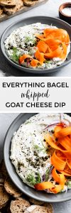 Everything Bagel Seasoning Whipped Goat Cheese