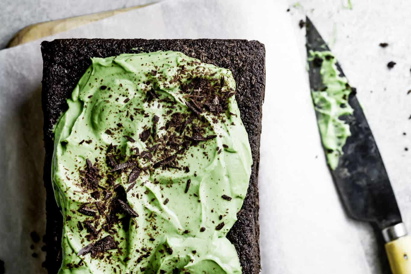 Gluten-Free Chocolate Cake with Black Sesame & Matcha