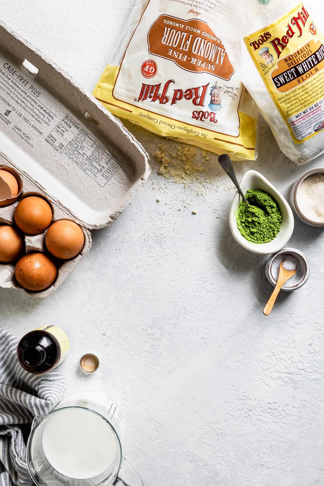 Matcha Almond Flour Crepes