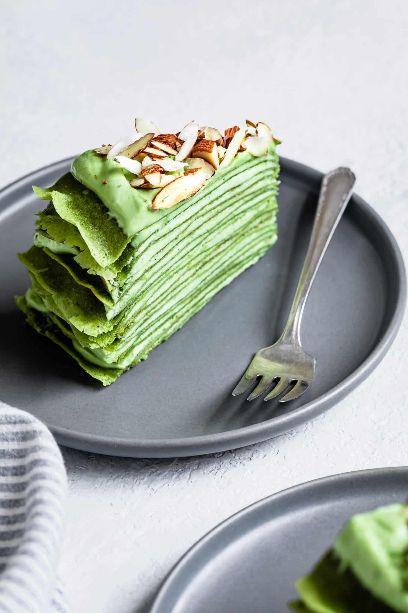 Gluten-Free Mille Crepe Cake with Matcha