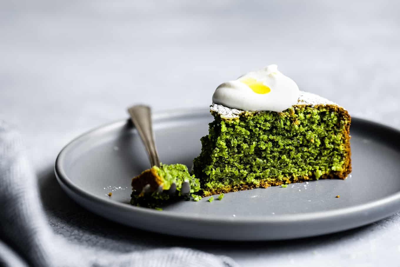 Matcha Poppy Seed Cake