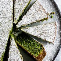 Gluten-Free Olive Oil Matcha Cake