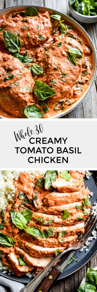 Creamy Tomato Basil Chicken and Spinach
