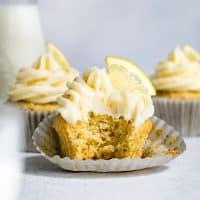 Gluten-Free Lemon Cupcakes with Lemon Cream Cheese Frosting