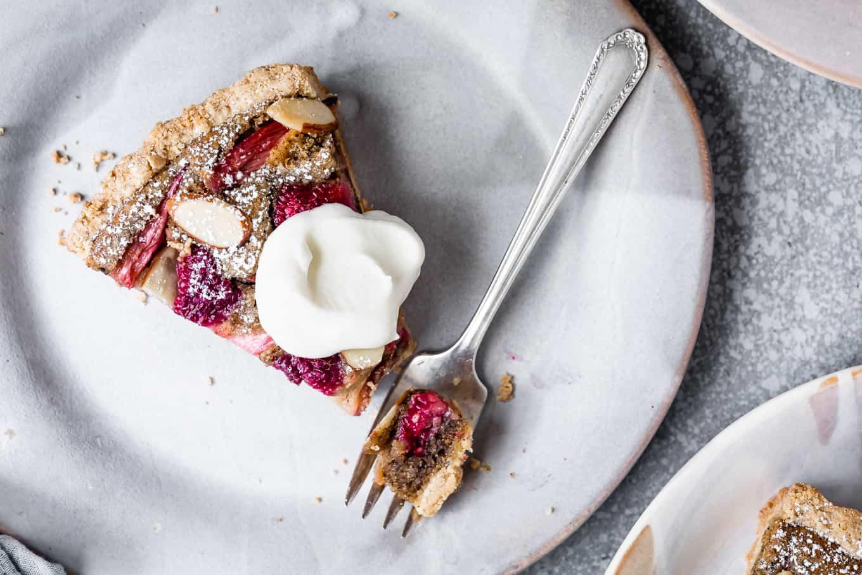 Gluten-Free Raspberry Rhubarb Tart