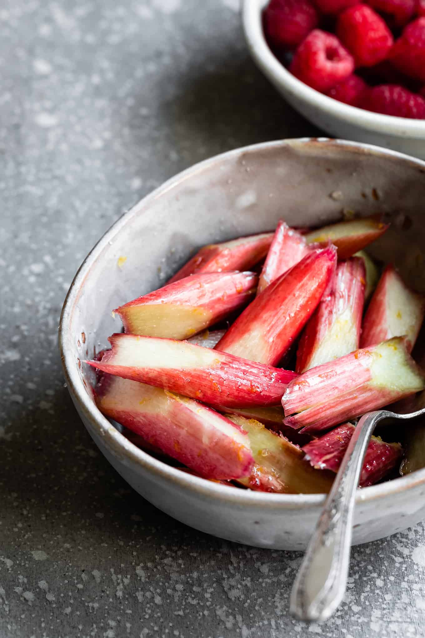 Macerated Rhubarb