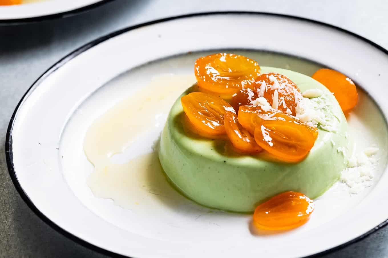 Matcha Panna Cotta Dessert