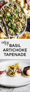 Basil Artichoke Tapenade