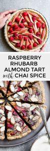 Rhubarb Raspberry Almond Tart