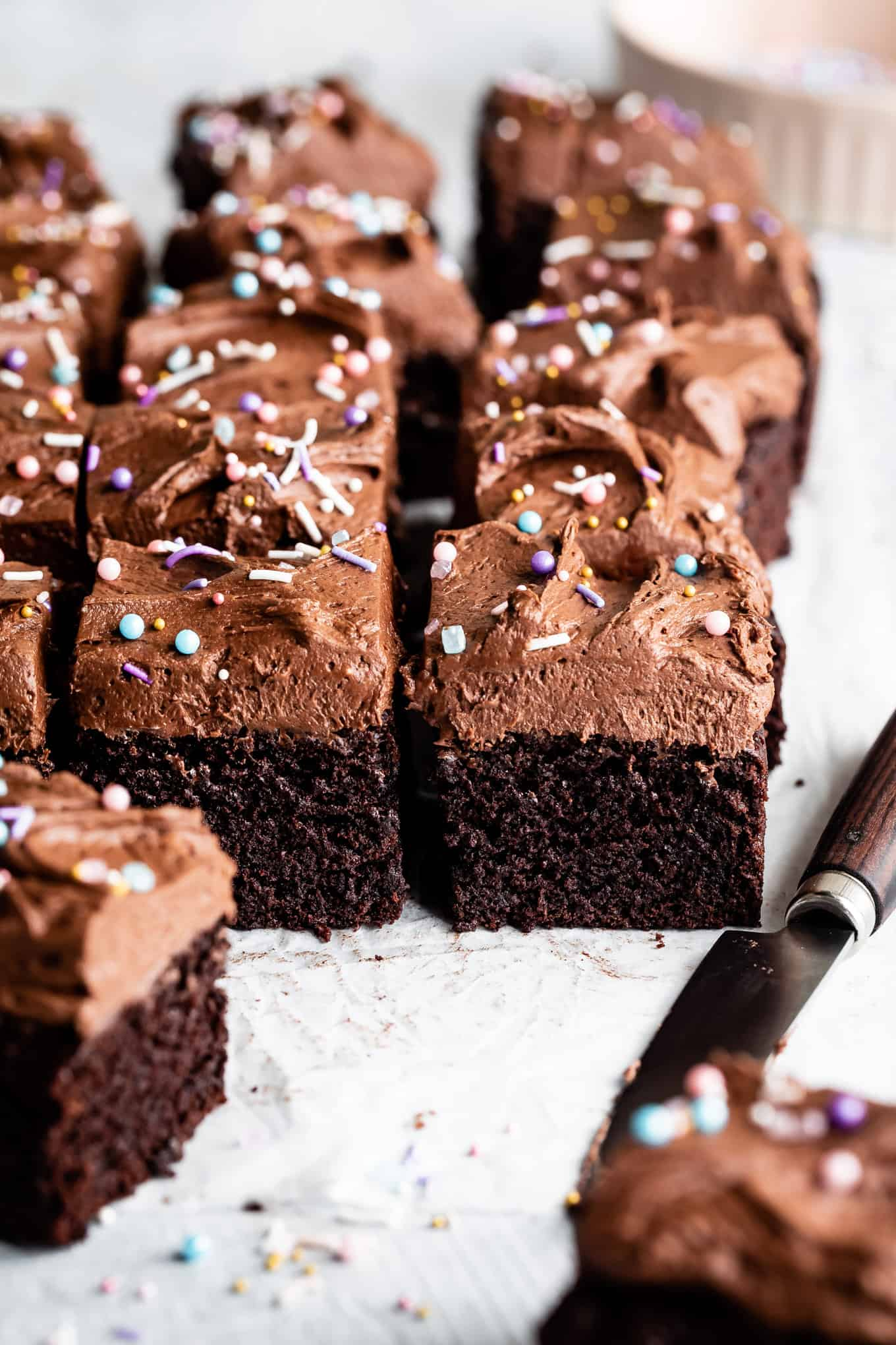 Moist Gluten-Free Chocolate Cake with Chocolate Buttercream