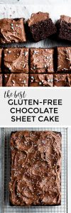 Gluten-Free Chocolate Sheet Cake with Chocolate Buttercream
