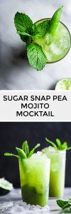 Sugar Snap Pea Mojito Mocktail