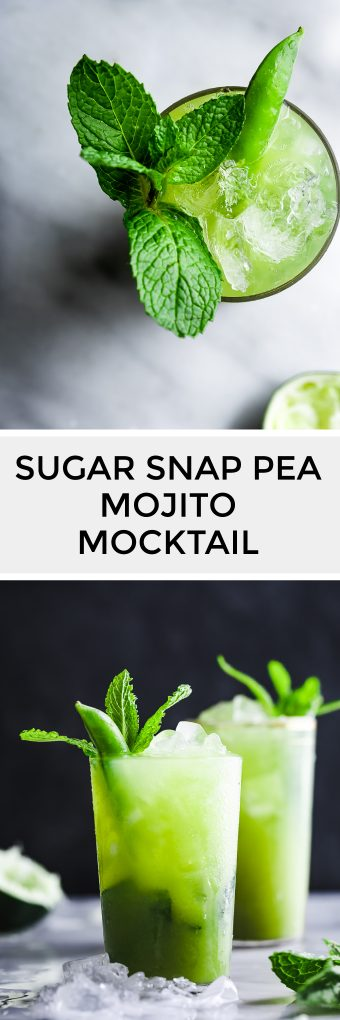 Sugar Snap Pea Mojito Mocktail