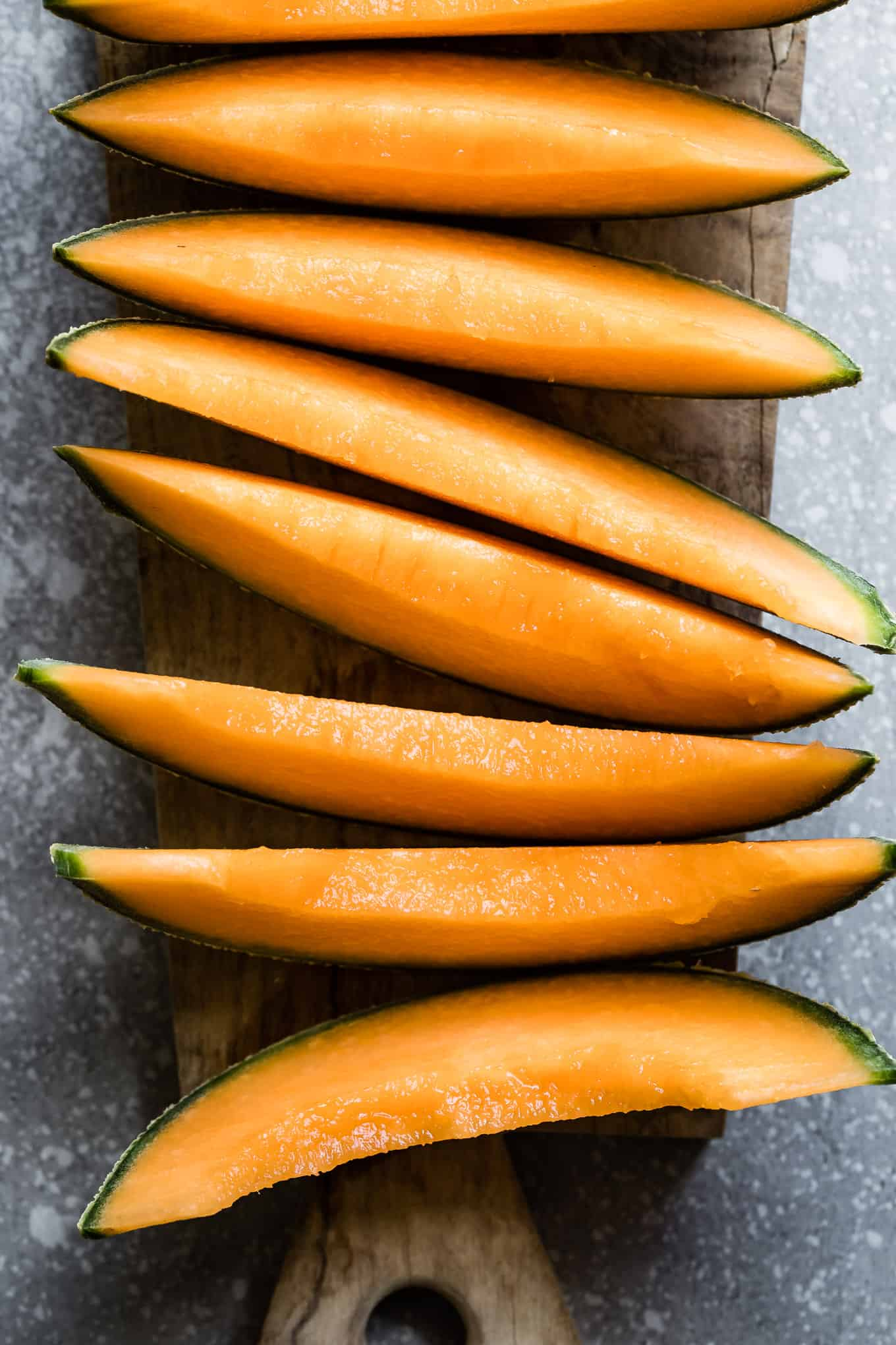 Sliced Ripe Cantaloupe