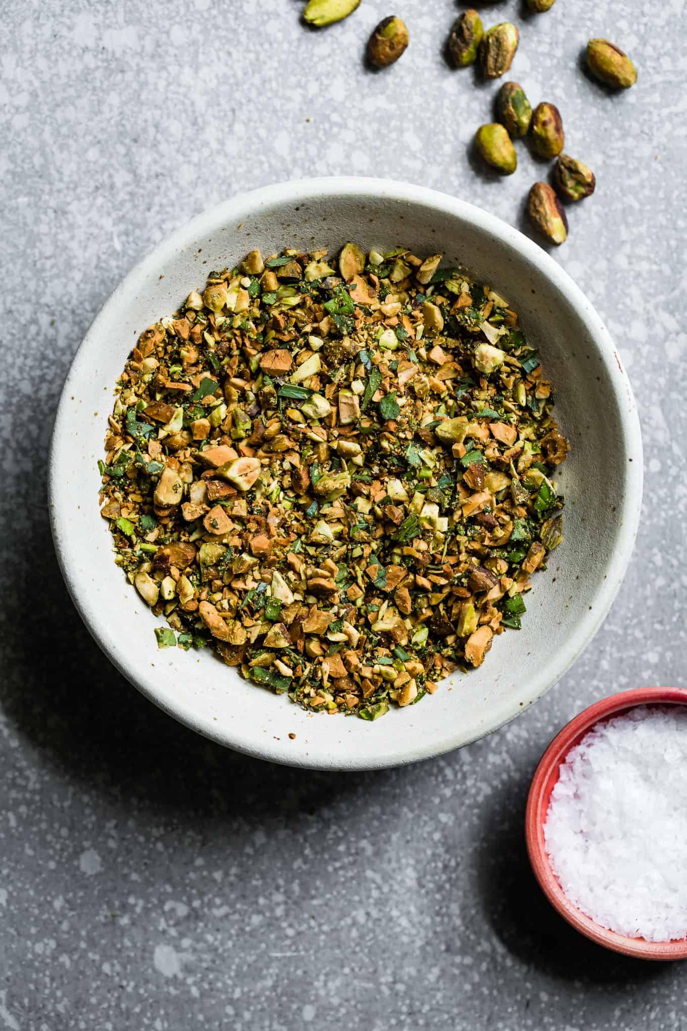 Herbed Pistachio Crumble