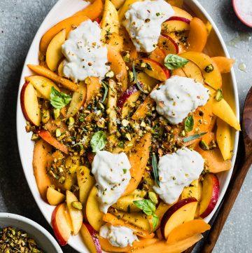 Summer Fruit Salad with Herbed Pistachios