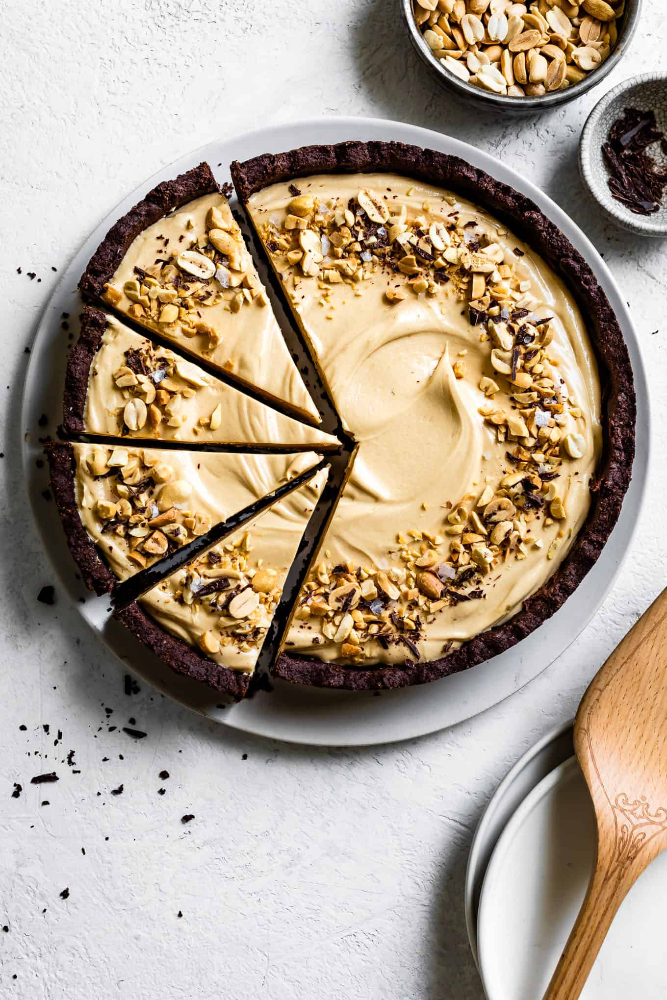 Gluten-Free Chocolate Peanut Butter Pie