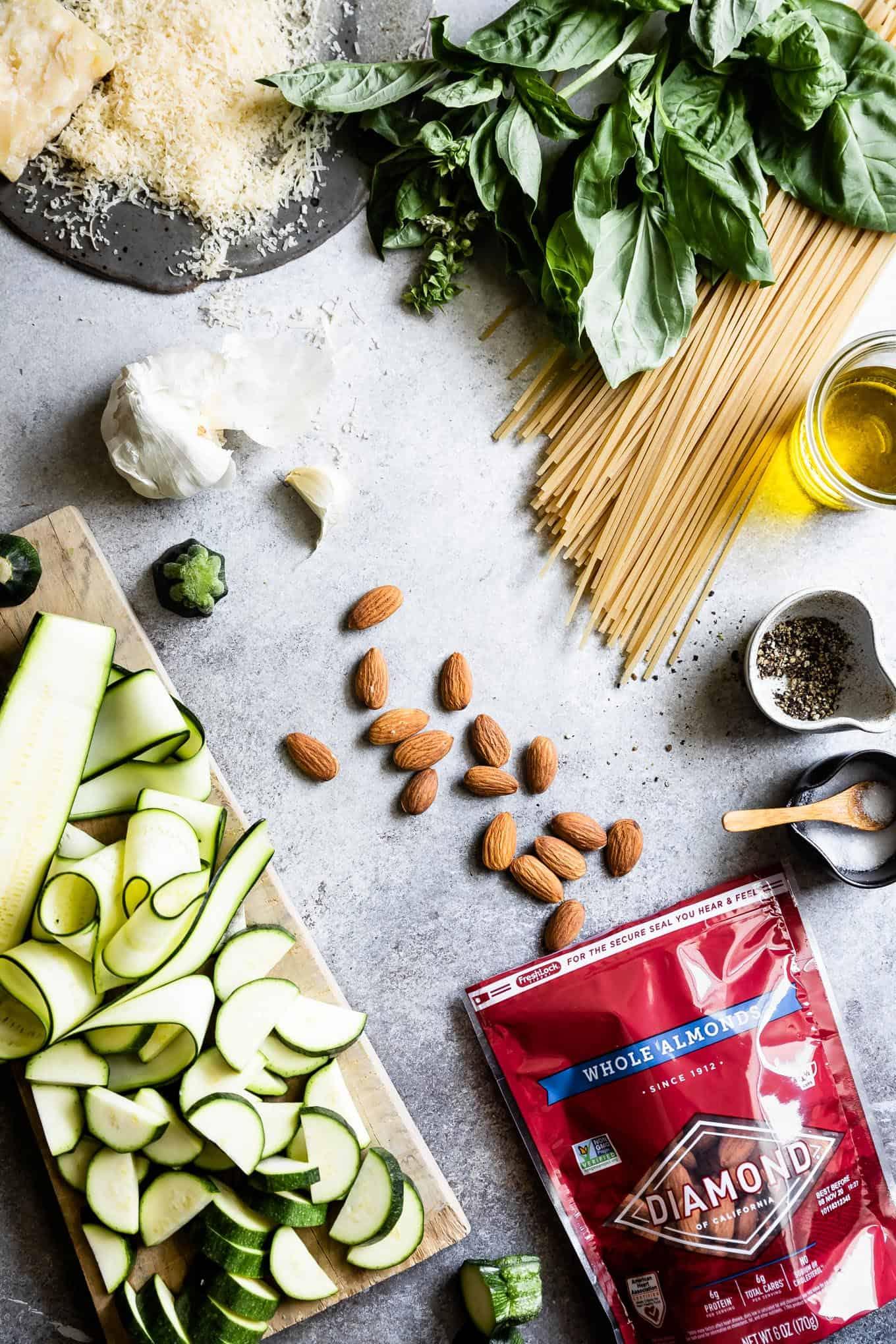 Almond Basil Pesto Pasta