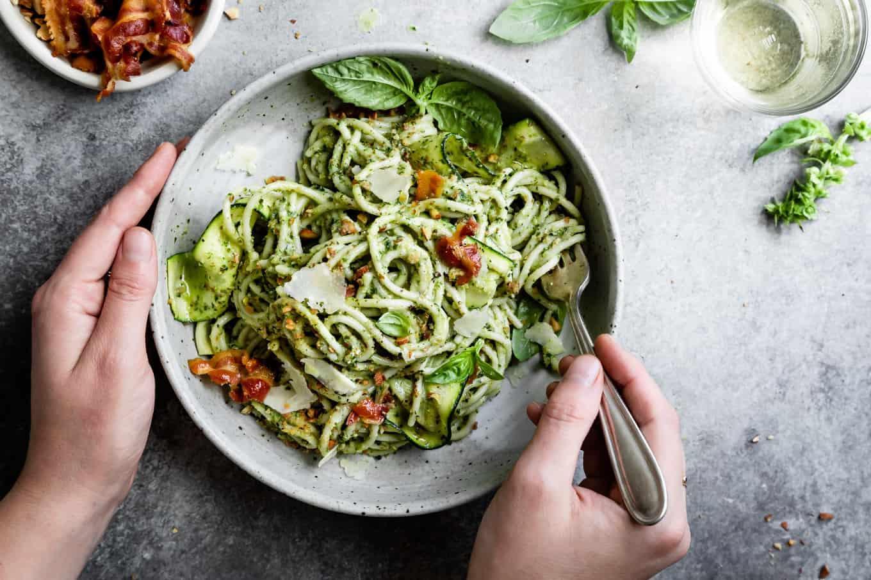 Creamy Zucchini Pesto Pasta