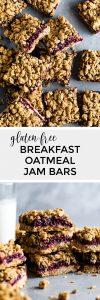 Gluten-Free Breakfast Oatmeal Jam Bars