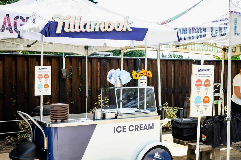 Tillamook Ice Cream Cart