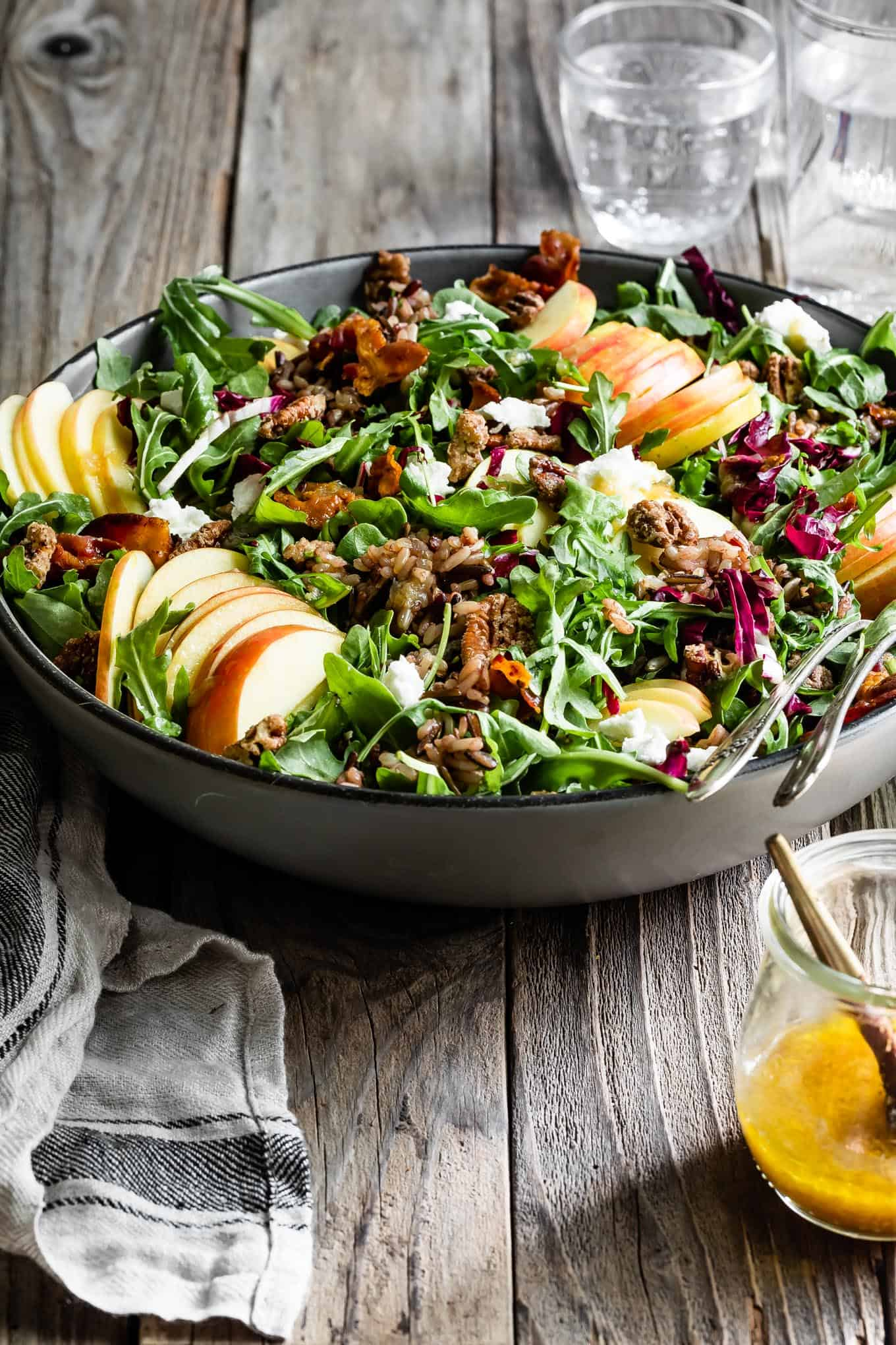 Arugula Salad with Roasted Garlic Vinaigrette