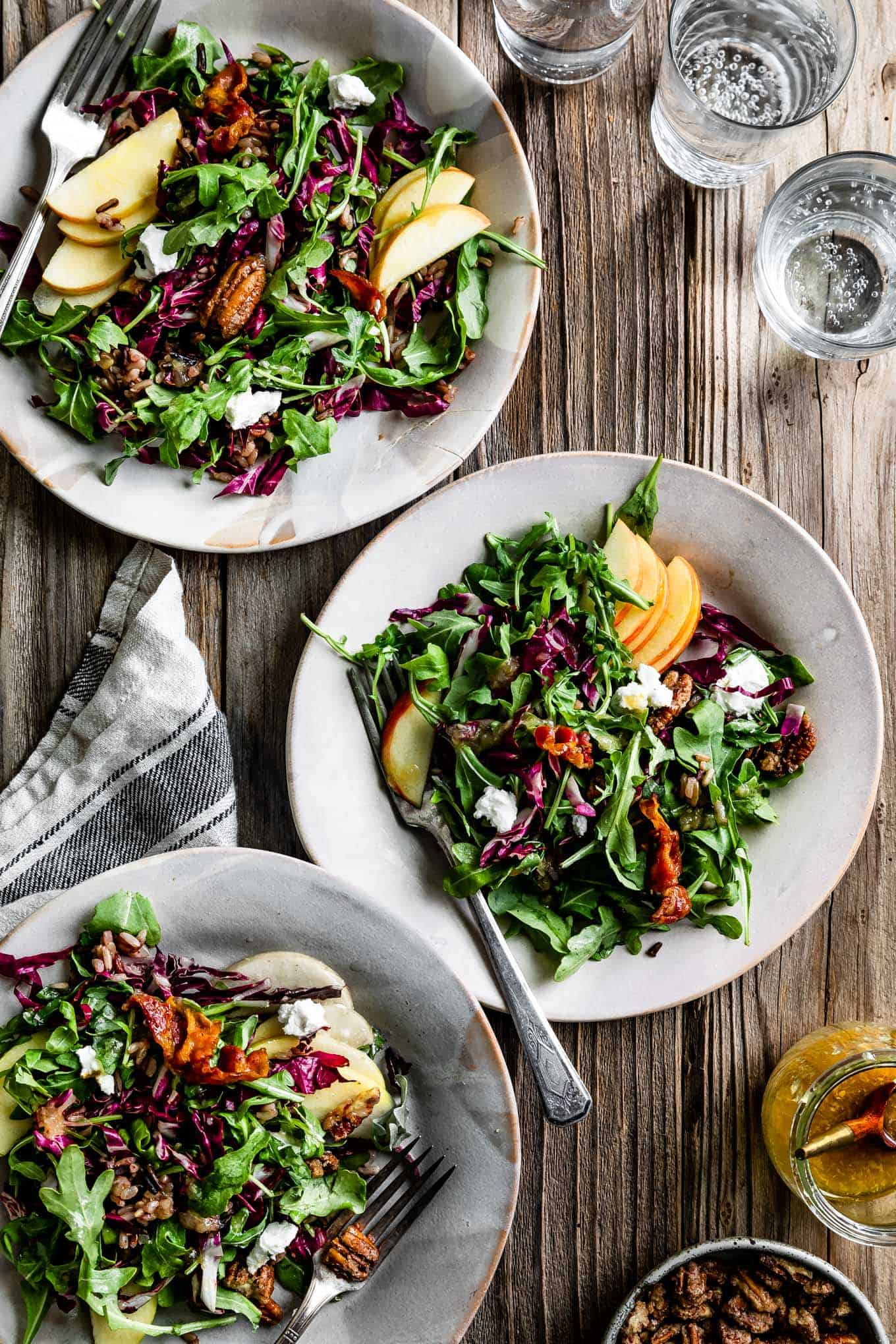 Fall Harvest Salad with Roasted Shallot Vinaigrette