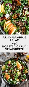 Arugula Apple Salad with Roasted Shallot Vinaigrette