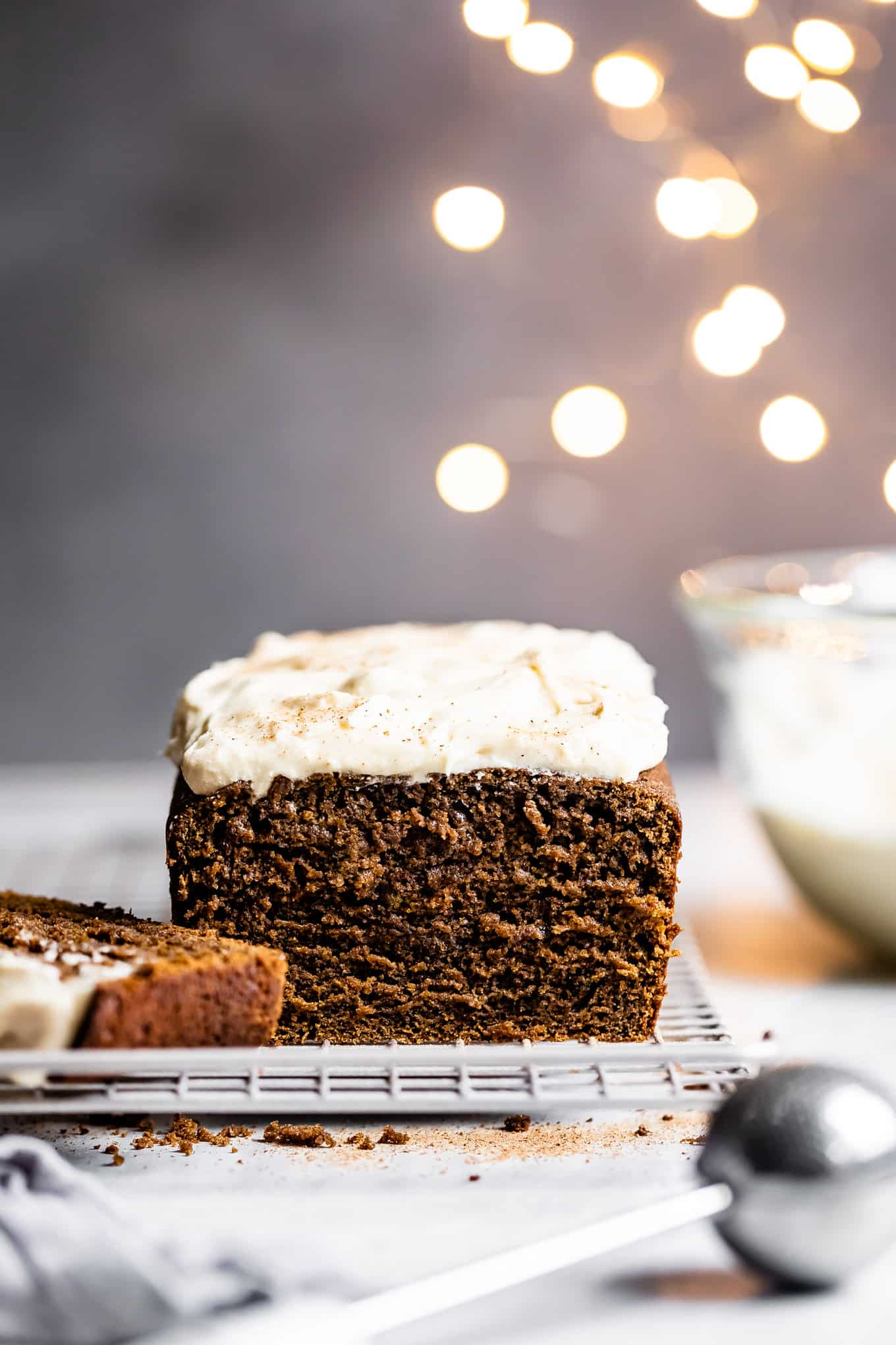 Gluten-Free Gingerbread with Eggnog Frosting