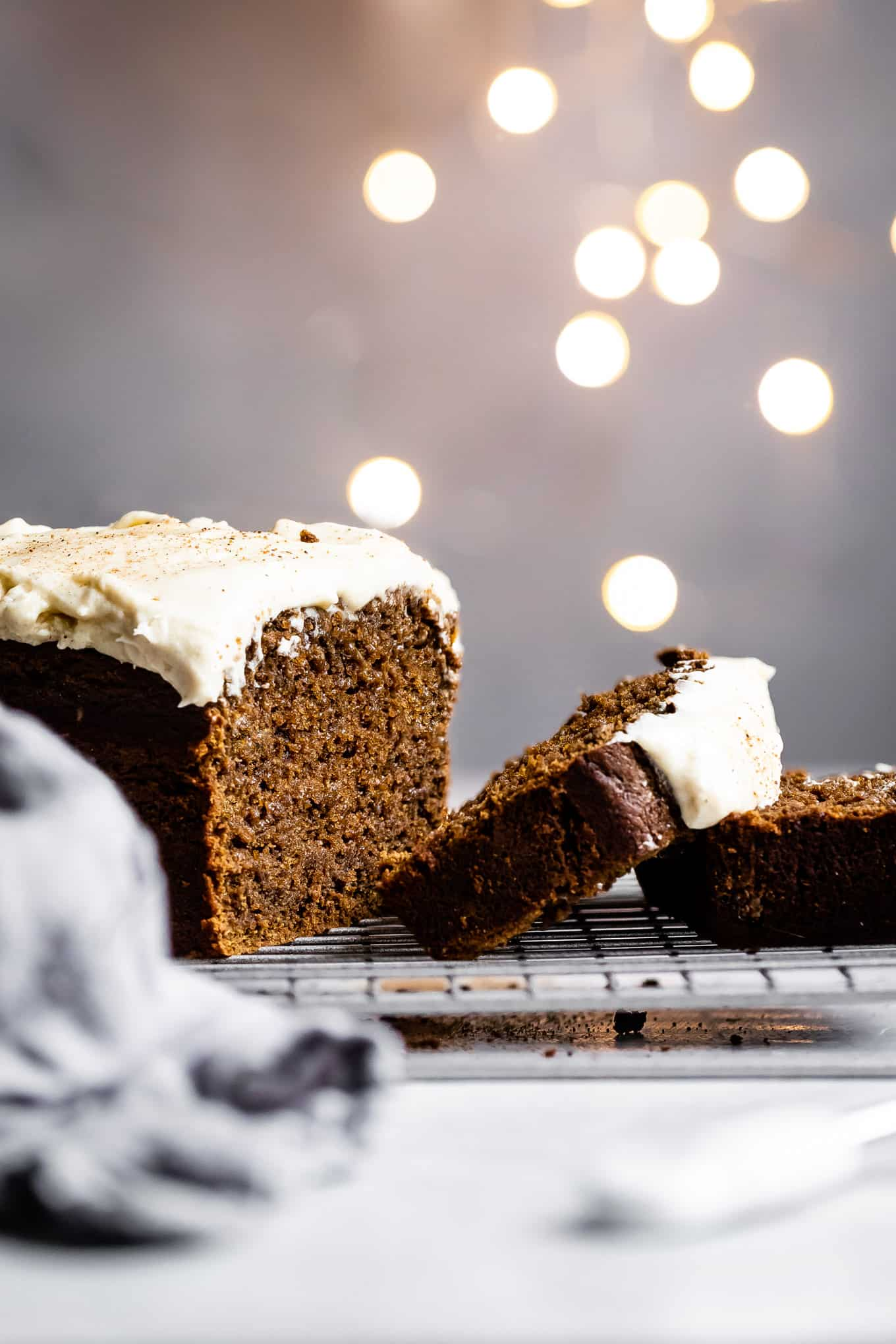 Gluten-Free Gingerbread Loaf with Eggnog Frosting