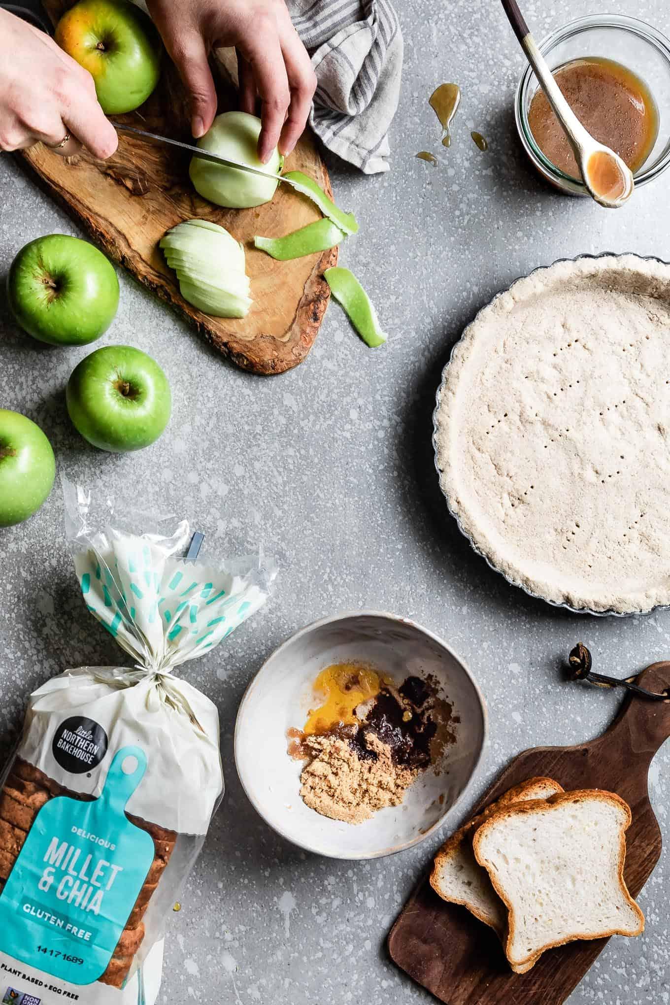 Gluten-Free Vegan Apple Tart with Caramel