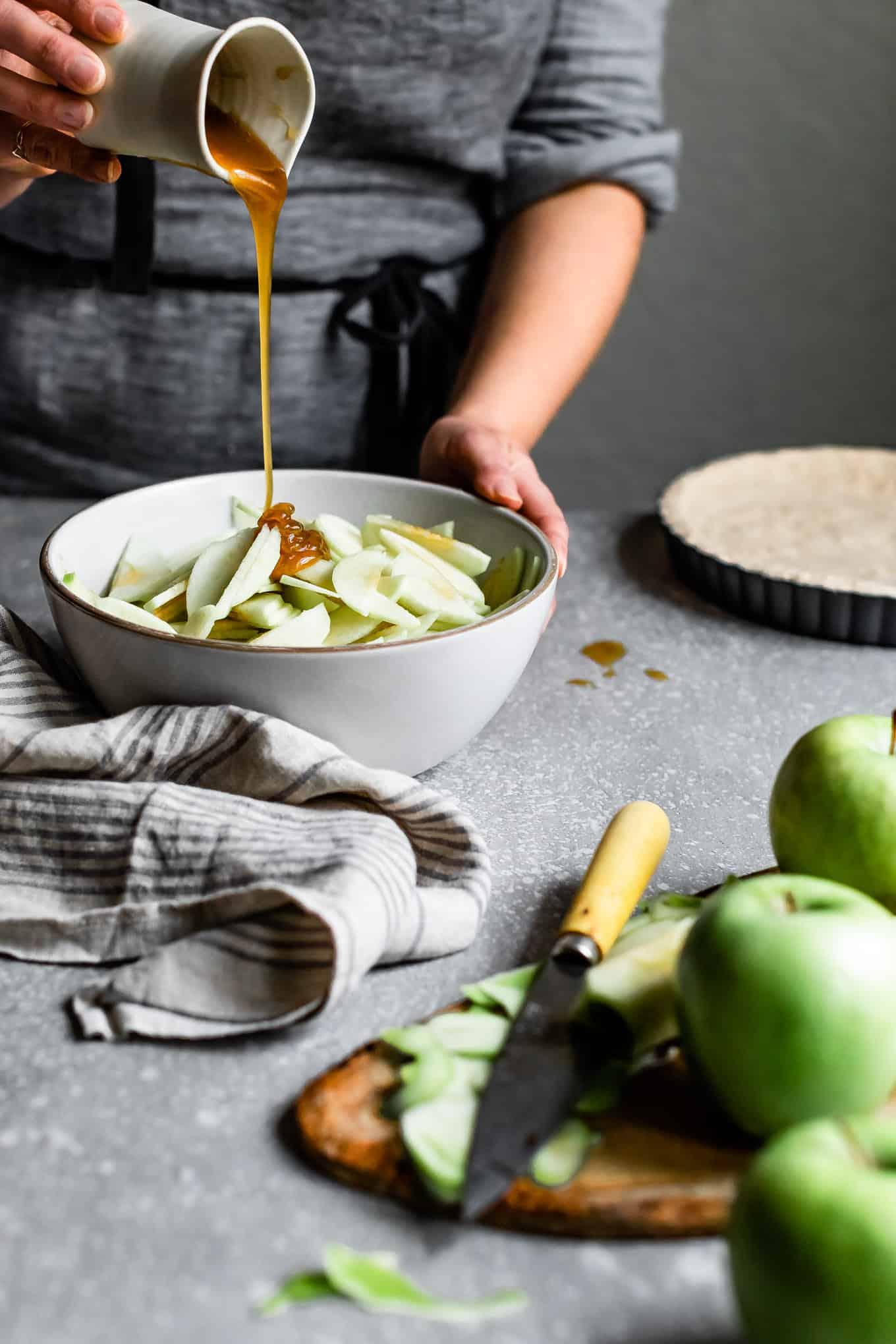 Vegan Gluten-Free Apple Pie with Caramel
