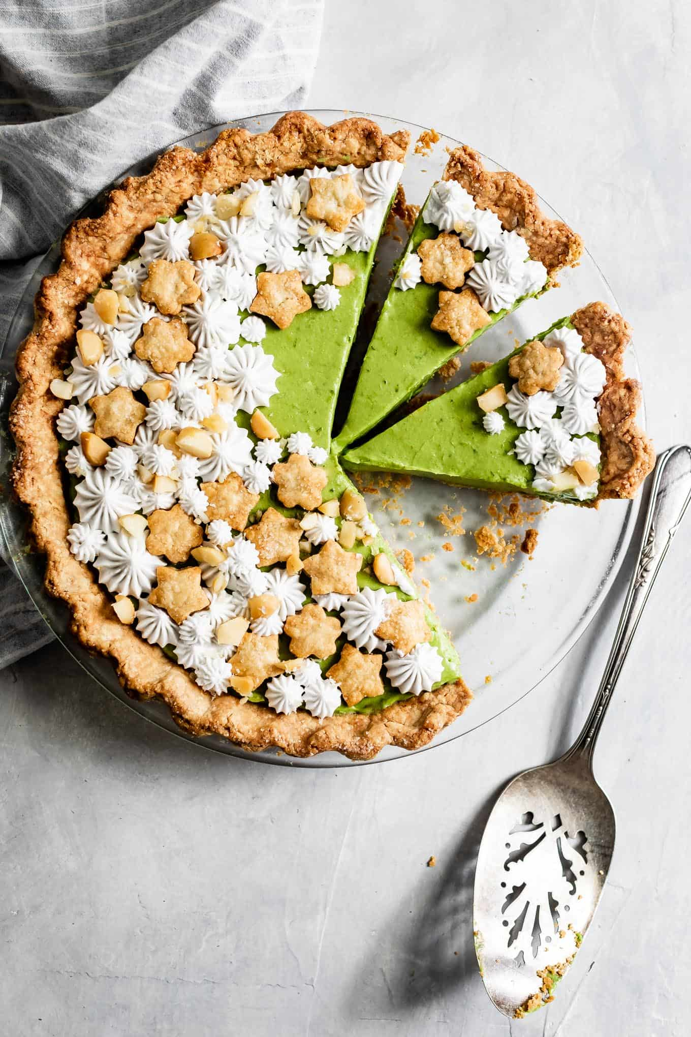 Gluten-Free Key Lime Pie with Matcha